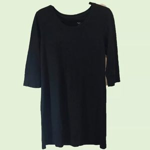 Mossimo Black Knitted Cotton Three Qtr Sleeve L